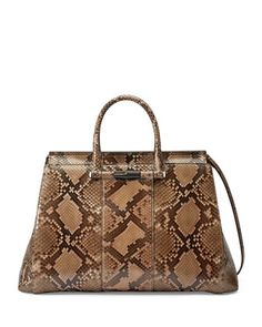 Lady Python Tote Bag, Beige/Brown by Gucci at Neiman Marcus.