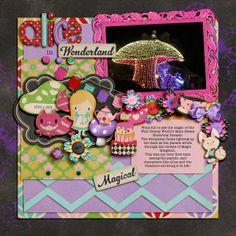 page by Julie L.  using Shabby Miss Jenn Designs Little Alice kit