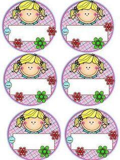 Badges for Kindergarten Children - Preschool Children Akctivitiys Classroom Labels, Classroom Bulletin Boards, Classroom Decor, Class Decoration, School Decorations, Pre School, School Days, School Border, School Frame
