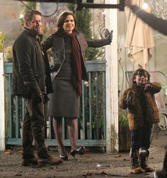 Lana, Sean & Raphael on the set of 'Once Upon A Time' - March 28, 2014