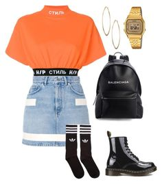 """untitled #2"" by loumpixe on Polyvore featuring mode, Balenciaga, Heron Preston, Givenchy, Dr. Martens, adidas Originals, Lydell NYC et Casio"