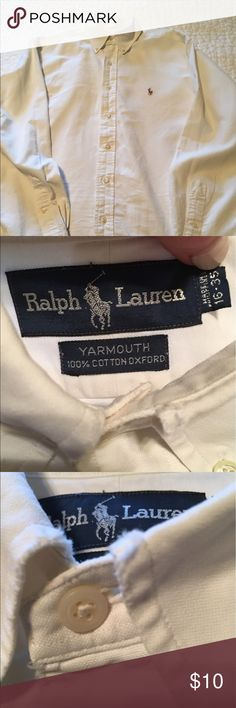 Ralph Lauren Yarmouth Oxford Cotton. Size 16-35 Good condition. Slight fraying on collar. Price reflects. Ralph Lauren Shirts Dress Shirts