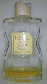 Vintage Lentheric London Paris New York Bouquet Tweed Glass Bottle Circa 1950s Young's Leicester