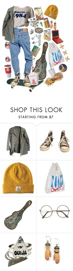 """is not happy with their existence"" by osomatsu ❤ liked on Polyvore featuring Topshop, Converse, Ashish, Nintendo, Margaux Lange and Advantus"