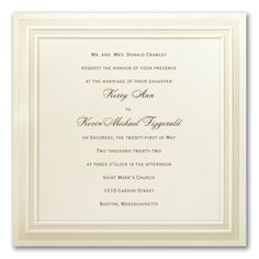 Your special day deserves only the best wedding invitations. This square card with a simplistic border design is just what you have been looking for! Ivory Wedding Invitations, Types Of Printing, Square Card, Timeless Wedding, Border Design, Invitation Suite, Home Wedding, Ink Color, Wedding Flowers