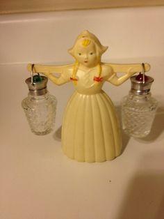 Vintage Salt & Pepper Shakers  Dutch girl by StoreUpTreasures, $15.00
