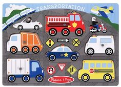 Here's a small wooden puzzle for all those little drivers in your life.  Melissa and Doug Transportation Puzzle
