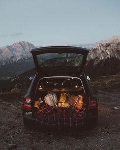 """the-cozy-room: """""""" Lukas Korynta: """"the new car finally feels like home"""" """". Car Dates, Camping Sauvage, Dream Dates, Fun Sleepover Ideas, Road Trip, Cute Date Ideas, Summer Bucket Lists, Travel Aesthetic, Van Life"""