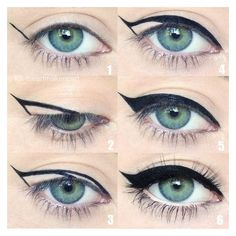 15 Game-Changing Eyeliner Charts If You Suck At Makeup ❤ liked on Polyvore featuring beauty products, makeup and eye makeup