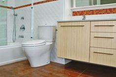Bamboo Cabinet & Porcelain & Ceramic Tiles