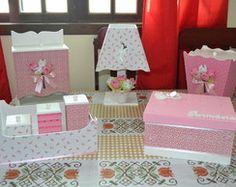 Kit higiene bebê - Primavera 8 peças