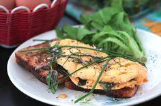 Eat the Garden - Omelette Omelette, Baking Ingredients, Salmon Burgers, Snacks, Chicken, Eat, Cooking, Breakfast, Board