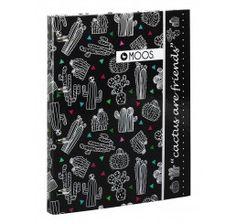 Carpeta A4 anillas con recambio 80 hojas MOOS Cactus
