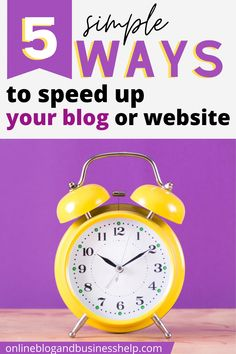 Is your blog or website slow? A slow site can annoy your readers and is terrible for your SEO. In this post, I'm going to give you 5 simple ways YOU can speed up your WordPress site. Even if you aren't tech savvy. Even if you're new to blogging. These beginner friendly tips will improve your site speed and decrease your bounce rate.  These beginner-friendly tips will improve your site speed. #wordpresstips #blog #bloggingtips #SEO #bouncerate #traffic #sitespeed Create Your Own Blog, Bounce Rate, Online Blog, Seo Marketing, Seo Tips, Blogging For Beginners, Make Money Blogging, Social Media Tips, Entrepreneurship
