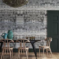 Cole and Son Riflesso Wallpaper - Fornasetti Senza Tempo