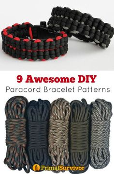 Awesome DIY Paracord Bracelet Patterns With Instructions 9 Awesome DIY Paracord Bracelet Patterns. As a Awesome DIY Paracord Bracelet Patterns. As a sur… Diy Paracord Armband, Paracord Belt, Paracord Braids, Paracord Bracelets, Survival Bracelets, Paracord Tutorial, Paracord Bracelet Instructions, Bracelet Tutorial, Cool Diy