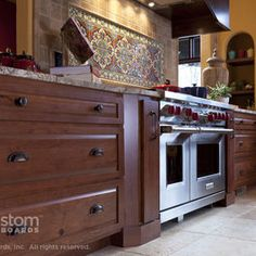 Rustic Beech | Heritage Classic Door - mediterranean - kitchen - wichita - Custom Cupboards