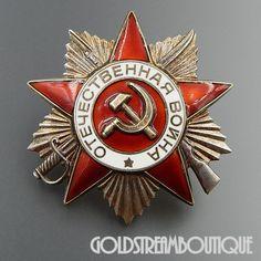 Soviet Russia USSR WWII Original Order of the Patriotic War 2nd Class Original Badge # 5811599