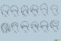 6 Ways to Draw Anime Hair - wikiHow