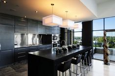 Contemporary Home Black Kitchen Table Design, Pictures, Remodel, Decor and Ideas - page 18