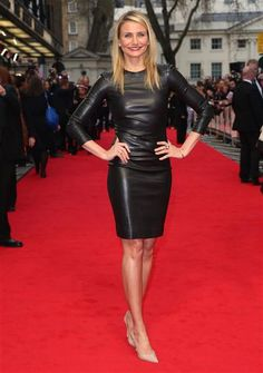 Cameron Diaz looked smoking hot in black leather. See mot sexy stars on Wonderwall: http://on-msn.com/RvlIMA