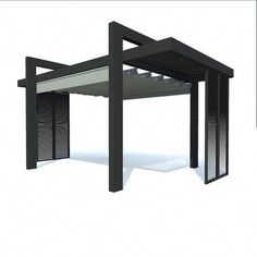 The pergola kits are the easiest and quickest way to build a garden pergola. There are lots of do it yourself pergola kits available to you so that anyone could easily put them together to construct a new structure at their backyard. Patio Pergola, White Pergola, Corner Pergola, Modern Pergola, Pergola Canopy, Metal Pergola, Pergola With Roof, Patio Roof, Pergola Plans