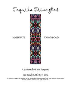 Tequila Triangles Peyote pattern for a cuff by TheBeadyLittleEye