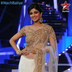 Shilpa in net saree