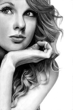 Taylor Swift Pencil Drawing by theGaffney.deviantart.com