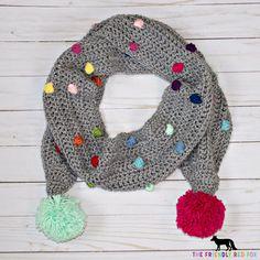 Free Crochet Pattern Confetti Scarf with Bobble Stitch