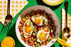 #Brunch!  >  Avocado Hash with Melia Extra Virgin Olive Oil.  >  RECIPE:  http://www.refinery29.com/easy-brunch-recipes