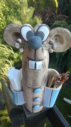 Pruhovaná myš na tužky, kapesníky......