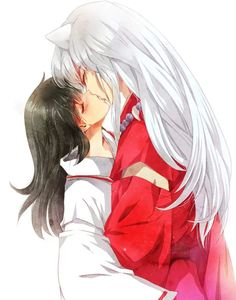 Inuyasha - Kagome and Inuyasha Kiss *-*