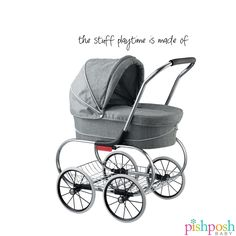 Our favorite Princess gets a makeover! Valco Baby gave the Princess Doll stroller fresh fabric options in Denim and Grey Marle (shown), so your mini me will have a new, updated look just like mum. Priced at $199.99, makes a great gift!  http://www.pishposhbaby.com/valco-baby-princess-doll-strollers.html