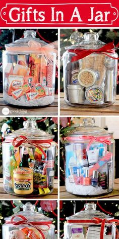 Think outside the gift basket box! A simple, creative, and inexpensive gift idea for any occasion! Gift baskets have been done to death, so give a gift in a jar this year! Check out these 10 creative ideas for heartfelt holiday gifts packed up in a jar. Creative Gifts, Cool Gifts, Creative Ideas, Simple Gifts, Easy Gifts, Unique Gifts, Diy Gifts In A Jar, Creative Fundraising Ideas, Useful Gifts