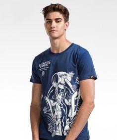 Saint Seiya Camus Blue T-shirts For Man