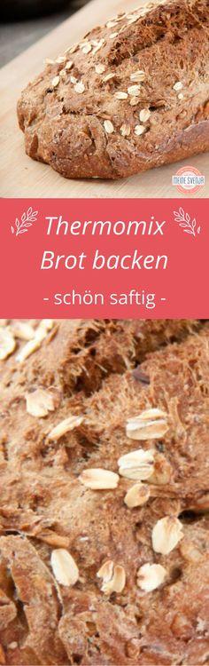 Thermomix Brot backen mit Vollkorn - ganz saftig durch Zugabe einer Zucchini. Brot Rezept mit gemischten Körnern und deftigem Brotgewürz - vegan und challengetauglich. Schritt für Schritt Anleitung auf meinem Blog: http://www.meinesvenja.de/2013/09/30/vegane-rezepte-balsamico-creme-und-dees-saftiges-brot-challengetauglich/