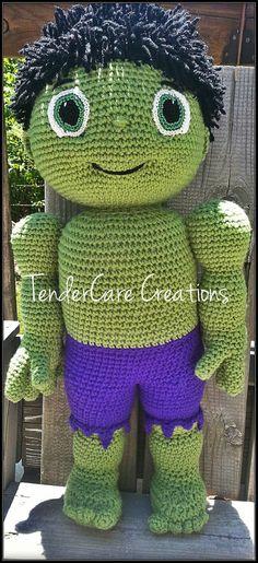 Muñeco de Amigurumi muñeca inspirada increíble Hulk Hulk