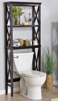 Bathroom Space Saver Over Toilet Shelves Storage Cabinet Rack Towels Furniture