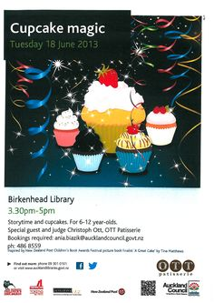 Cupcake magic - storytime with cupcakes to celebrate the best of NZ kids' books.