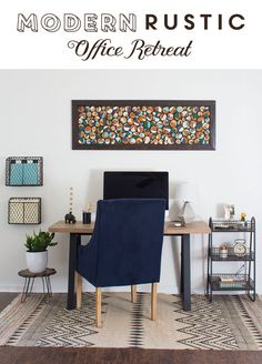I love this modern rustic office space! That chair looks so comfy. #WorldMarketTribe #sponsored