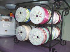 altered pringles can/wine rack/ribbon holder - Scrapbook.com