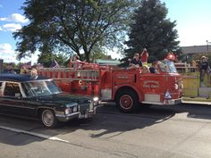 The Parade of Emergency Vehicles kicks off Friday nights activities during the 2012 Woodward DreamCruise weekend