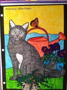 Victoria Long 18 Division From Cats Stained Glass Coloring Book