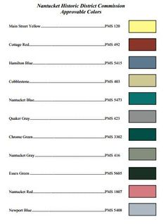 Nantucket approved colors