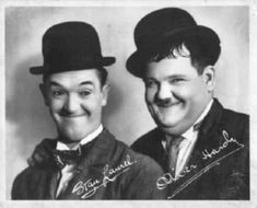 Stan Laurel and Oliver Hardy- Laurel and Hardy. Pure comedy, still stands up Laurel And Hardy Movies, Laurel Et Hardy, Stan Laurel Oliver Hardy, Hollywood Stars, Classic Hollywood, Old Hollywood, North Hollywood, Top 10 Comedies, Charles Trenet
