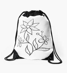 """Skull"" Drawstring Bag by Backpack Bags, Drawstring Backpack, Sell Your Art, Woven Fabric, Skull, Backpacks, Shoulder, Classic"