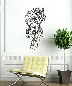 Dreamcatcher Decals Dream Catcher Feathers Wall Vinyl Decal Art Design Bedroom Interior Mural Decor Sticker Removable Room Window SS32 by supervinyldecal. Explore more products on http://supervinyldecal.etsy.com