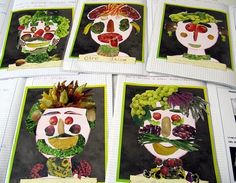 like Arcimboldo - Food Carving Ideas Kids Fruit Crafts, Giuseppe Arcimboldo, Vegetable Crafts, Fruits For Kids, Food Carving, Fruit Illustration, Ecole Art, Fruit Art, Preschool Art
