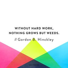 What are you working hard towards?